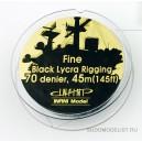 Black Lycra Rigging 70 denier 145ft.
