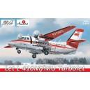 Самолет L-410 красный Аэрофлот