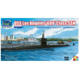 USS Los Angeles '688' Class SSN with DSRV-1