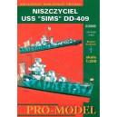 USS 'SIMS' DD-409