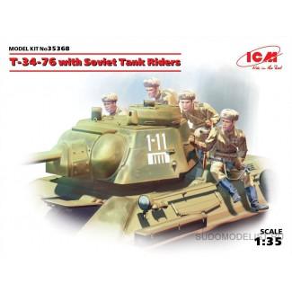 Т-34-76 с танковым десантом