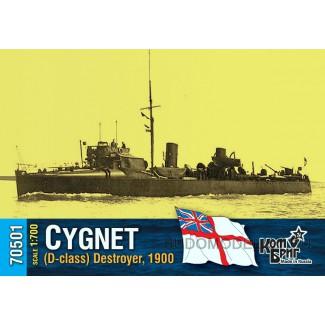 Эсминец HMS Cygnet (D-class) Destroyer, 1900