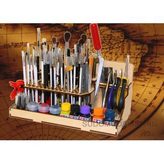 Модуль-органайзер под кисточки и инструмент