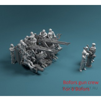Фигуры солдат US Navy(Bofors+Mk-51)