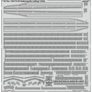 ФТД для USS CA-35 Indianapolis леерное ограждение