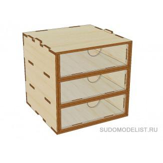 Mini модуль-органайзер на 3 ящика