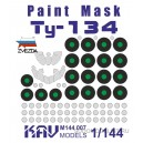 Окрасочная маска на Ту-134 (Звезда)