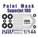 Окрасочная маска на Superjet 100 (Звезда)