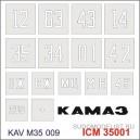 Трафарет номера на кузов ICM.35001