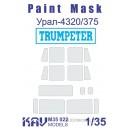 Окрасочная маска на остекление Урал-4320/375 (Trumpeter)