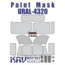 Окрасочная маска на остекление Урал-4320 (Звезда)