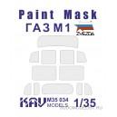 Окрасочная маска на остекление ГаЗ М1 (Звезда)