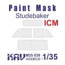 Окрасочная маска на остекление Studebaker (ICM, Моделист)