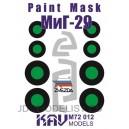 Окрасочная маска на остекление МиГ-29 (Звезда)