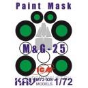 Окрасочная маска на остекление МиГ-25 (ICM)