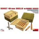 Советские 45-мм снаряды и снарядные ящики