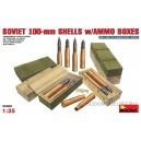 Советские 100-мм снаряды и снарядные ящики