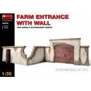 Забор фермы с въездом