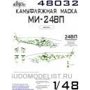 Окрасочная маска на Ми-24ВП