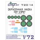 Окрасочная маска МиГ-25 РБТ (ICM)