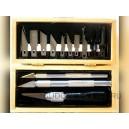 Профессиональный набор ножей №1, №2, №7, + 10 запасных ножей