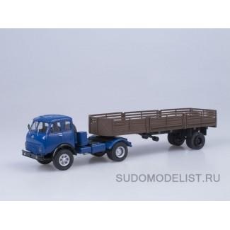 Масштабная модель МАЗ-5429 с полуприцепом МАЗ-5245