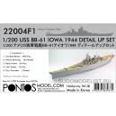 Набор для USS BB-61 Iowa 1944 Detail up set  (без палубы)