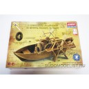 Лодка с гребными колёсами по проекту Леонардо да Винчи