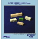 CARGO WOODEN BOXES (large)   (5 to a pack)