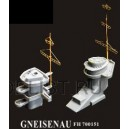 Germany Navy Gneisenau Metal Mast(Including 1piece of PE and two pieces of masts)